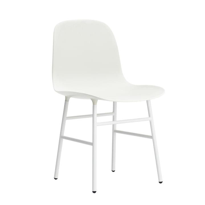 Normann Copenhagen - Form Chair, Steel Legs, white