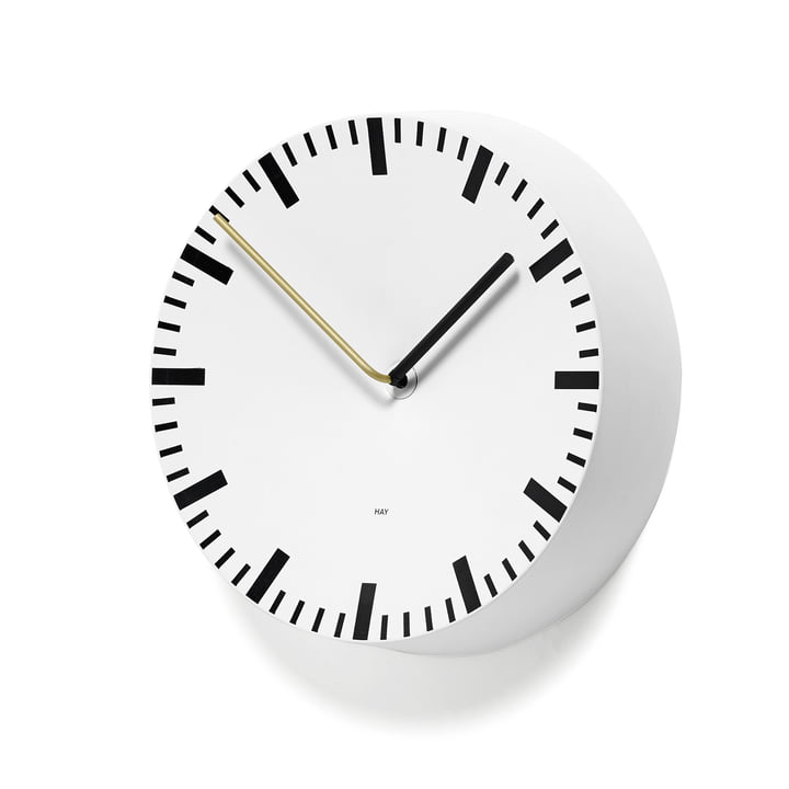 Hay - Analogue Clock, white