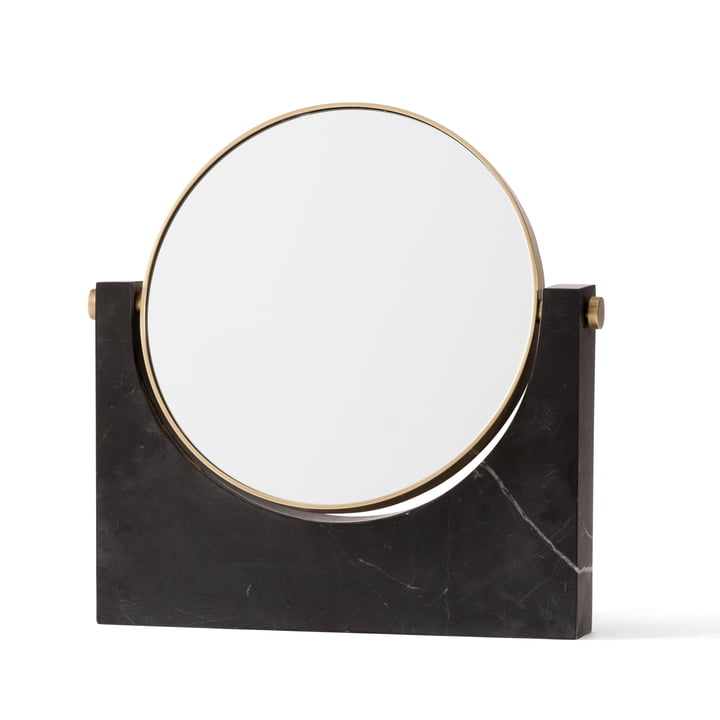 Menu - Pepe Marble Mirror, brass / black