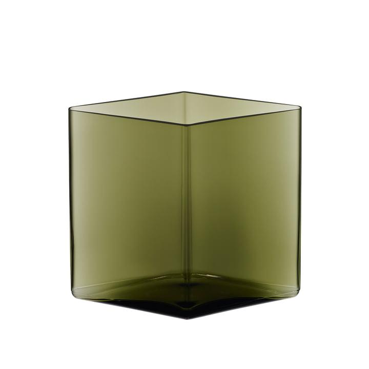Iittala - Ruutu Vase 205 x 180 mm, moss green
