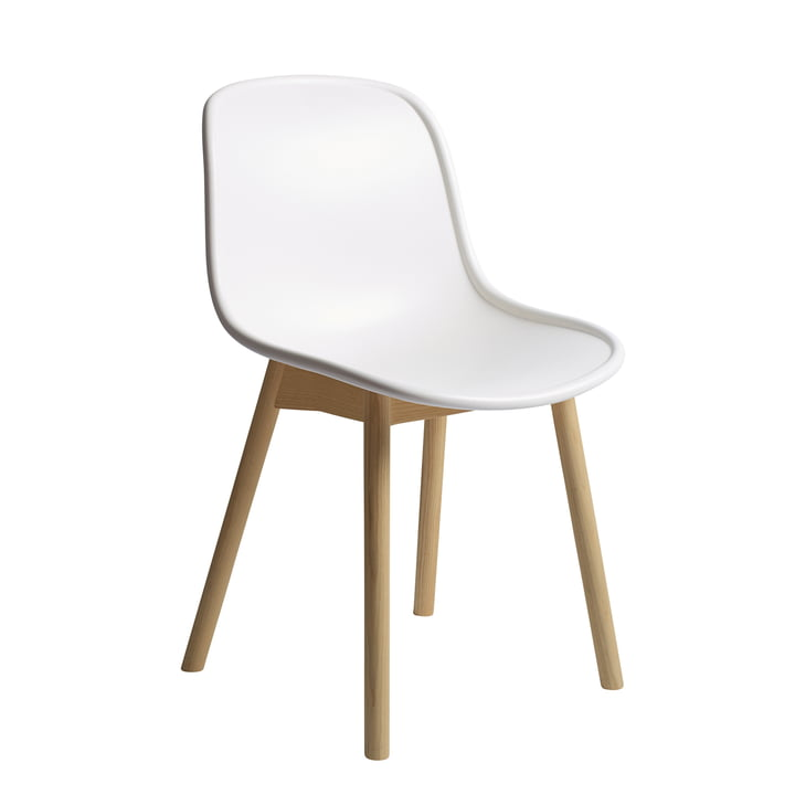New13 chair from Hay in the finish oak matt lacquered / cream white
