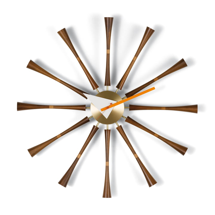 Vitra - Spindle Clock, aluminium / walnut