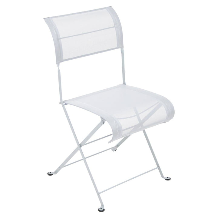 Dune Folding Chair by Fermob in Cotton White