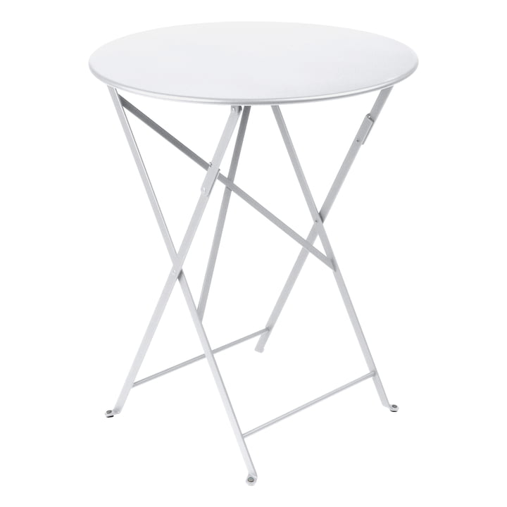 Bistro Folding table Ø 60 cm from Fermob in cotton white