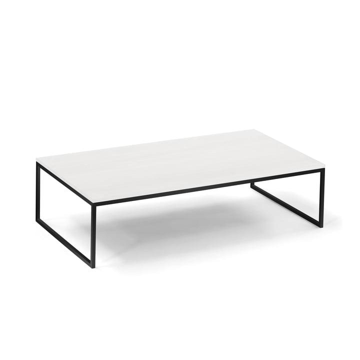Hans Hansen - Less H 5/2 Coffee Table Sled-Base Frame, black / HPL white