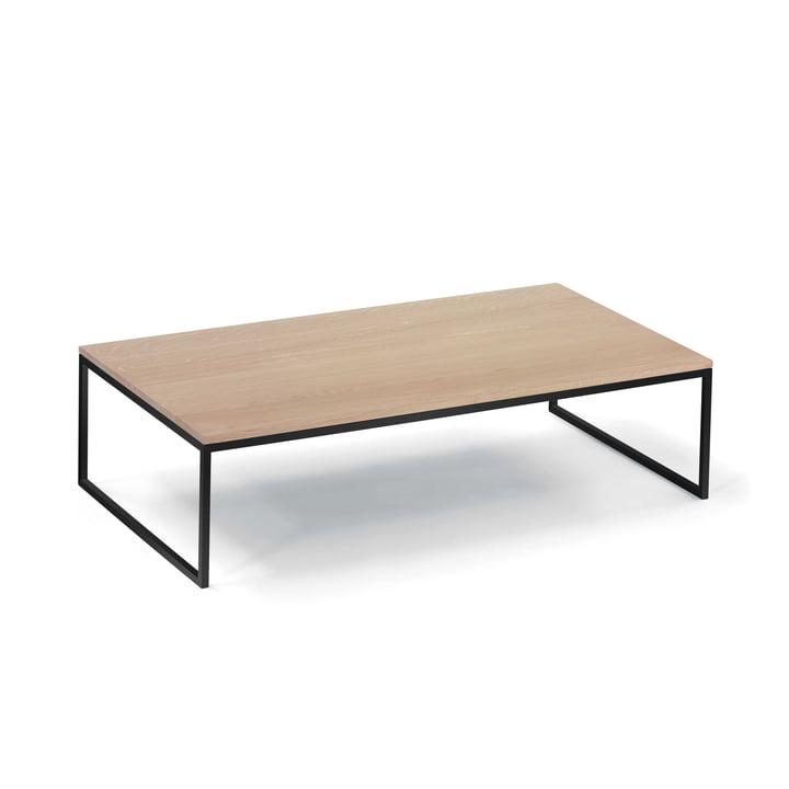 Hans Hansen - Less H 5/2 VA Less H 5/2 Coffee Table Sled-Base Frame, black / solid oak