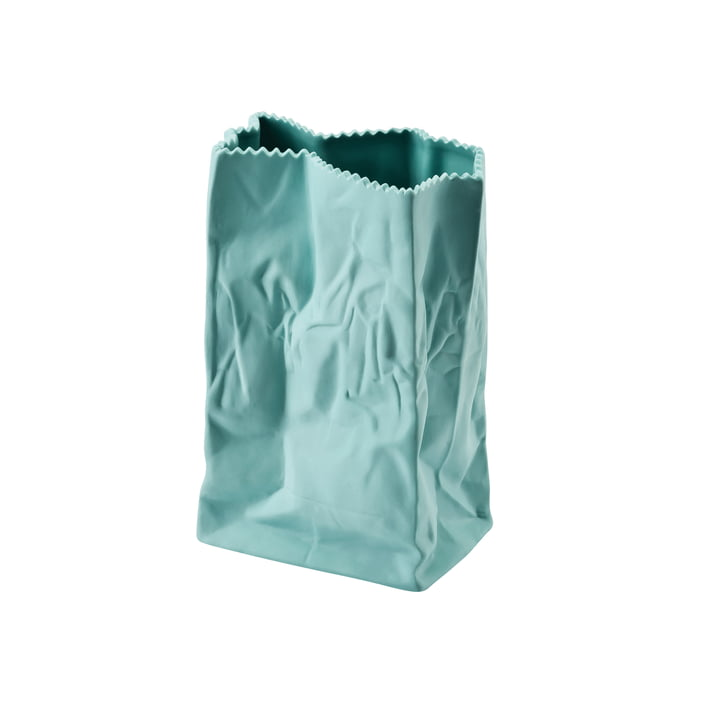 Rosenthal - Paper Bag Vase, 18 cm, mint