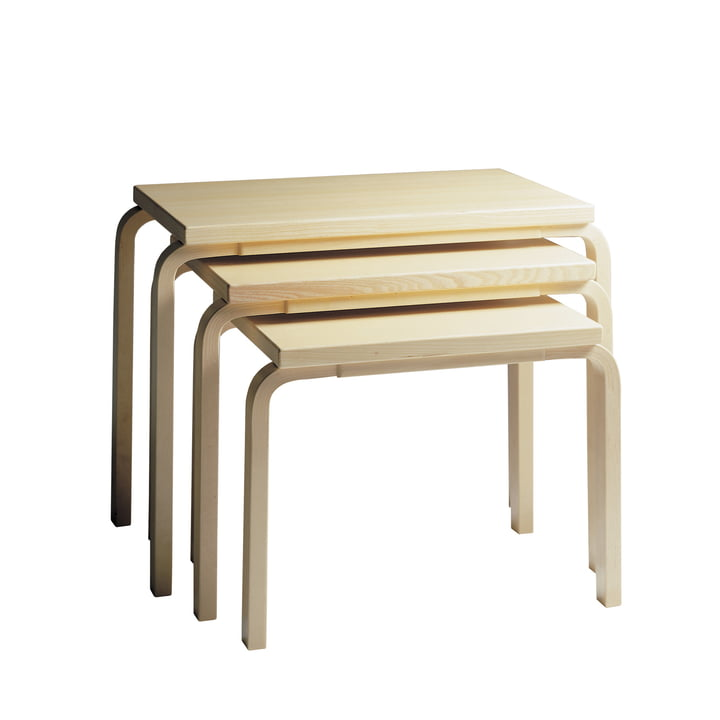 Artek - Nesting Table 88, birch veneer (set of 3)