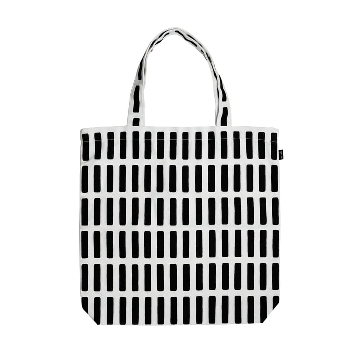Artek - Siena canvas bag, black / white