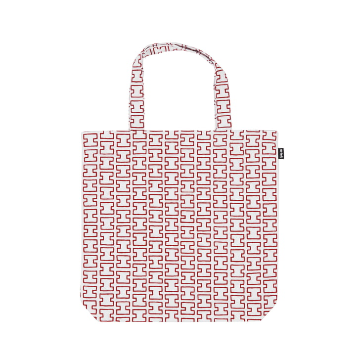 Artek - Fabric Bag H55, white / red