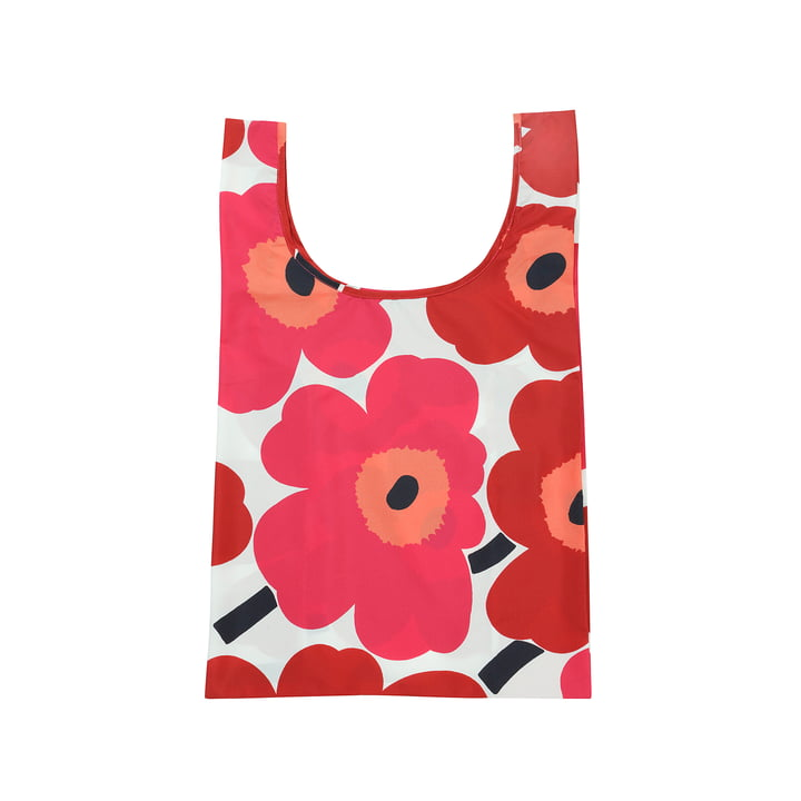 Marimekko - Shopping Pieni Unikko bag, white / red