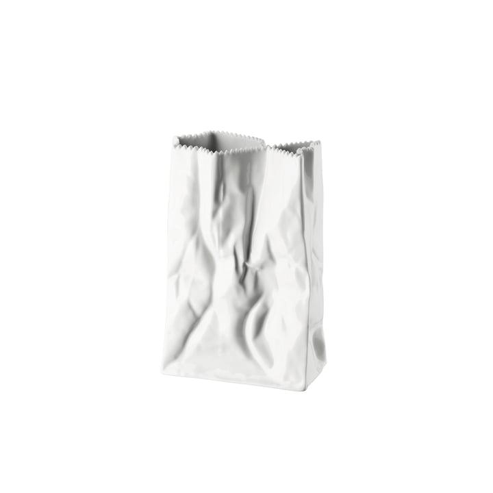 Rosenthal - Paper Bag Vase, 18 cm, glazed white