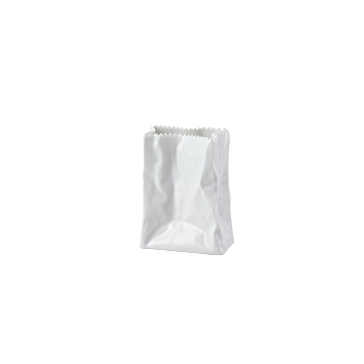 Rosenthal - Paper Bag Vase, 10 cm, glazed white