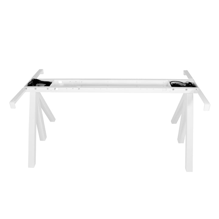String - Works Height-Adjustable Table Frame, white