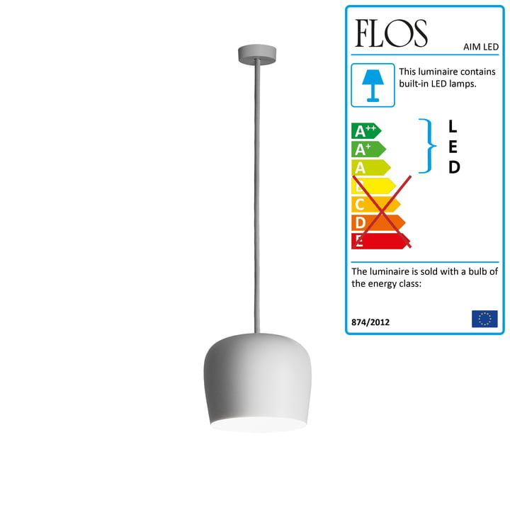 Flos - AIM Small LED pendant lamp Fix, white