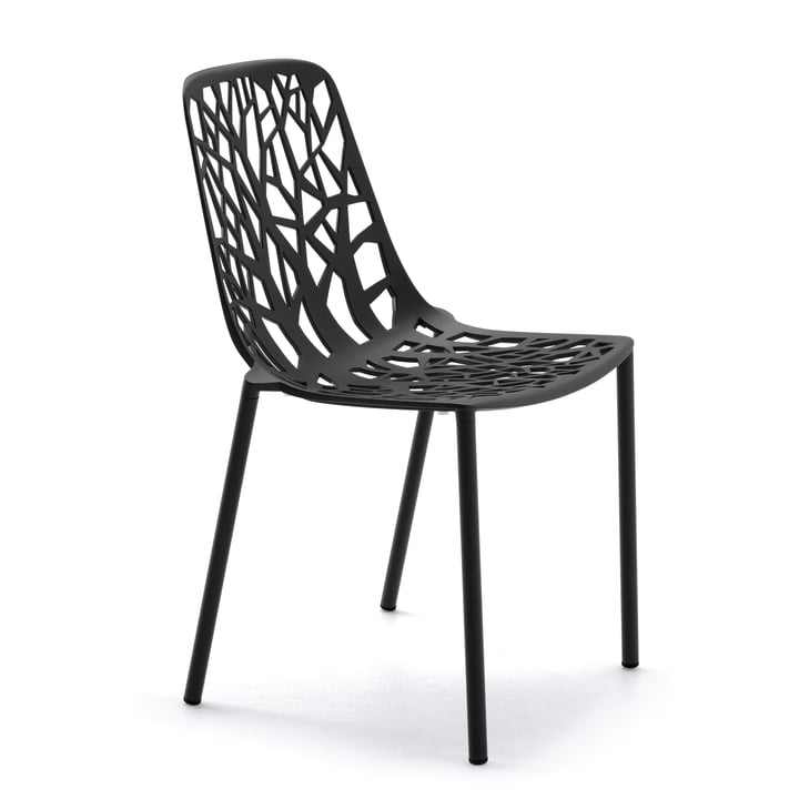 Forest Stacking chair ( Outdoor ) from Fast in black