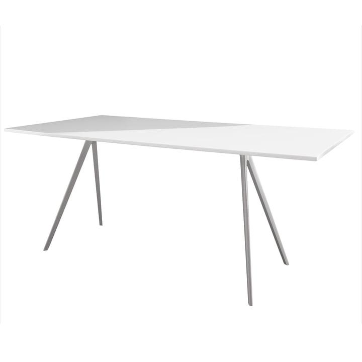 Magis - Baguette Dining table 205 cm, white / white