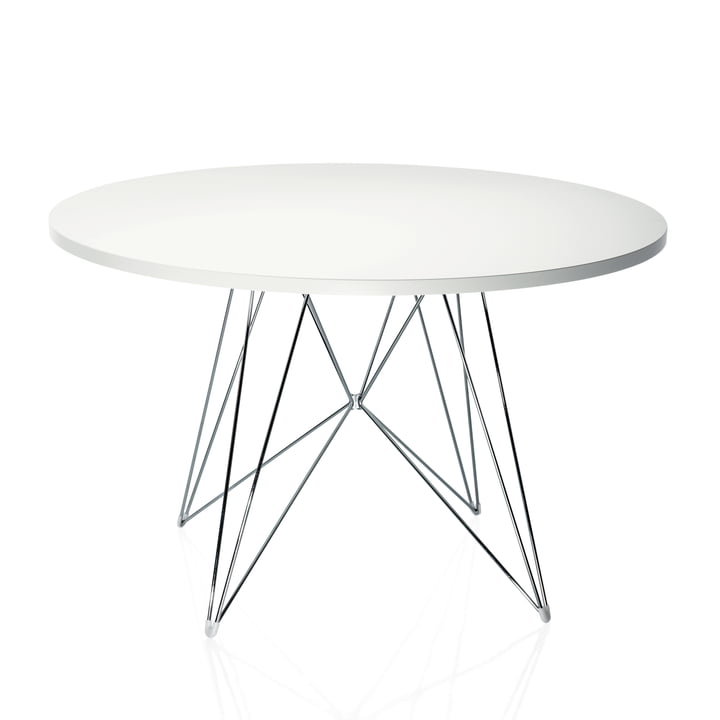 Magis - Tavolo XZ3, round, white / chrome-plated