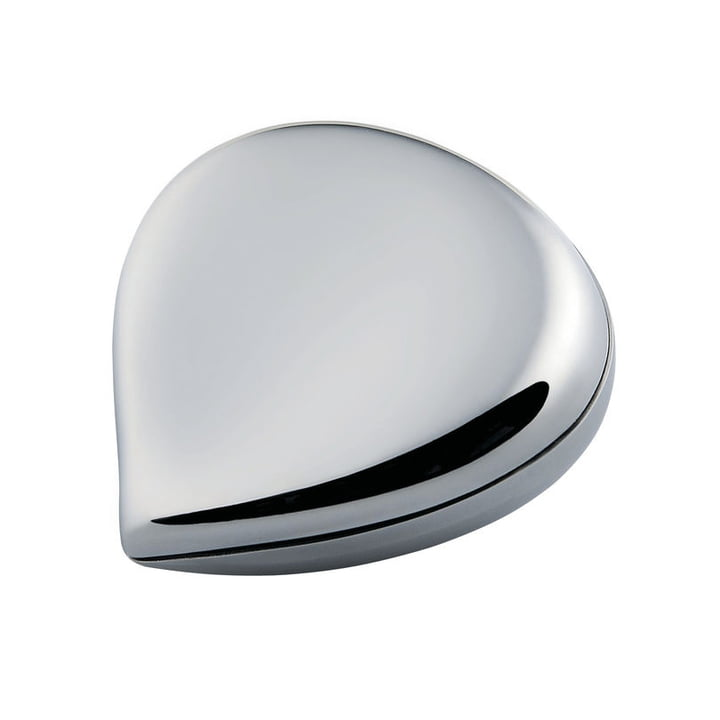 Chestnut pillbox, stainless steel by Alessi