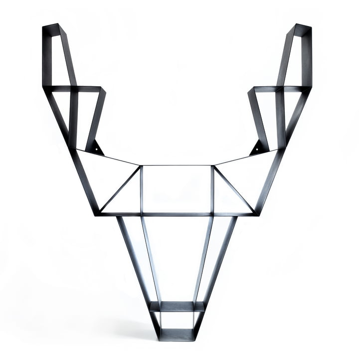 BeDesign - Deer metal large, black