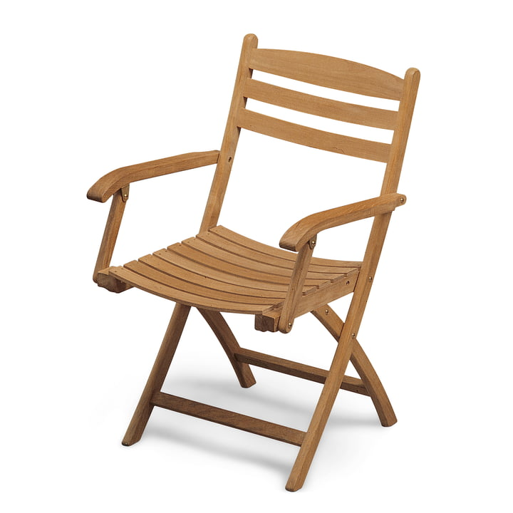 Selandia folding chair with armrests from Skagerak in teak
