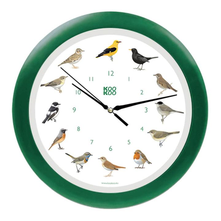KooKoo - Singing Bird Wall Clock, green