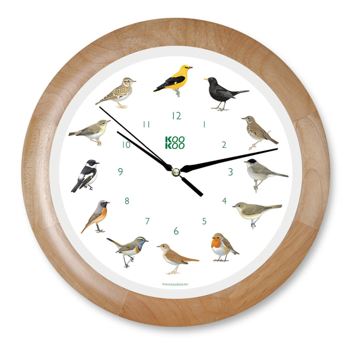 KooKoo - Singing Bird Wall Clock, wood