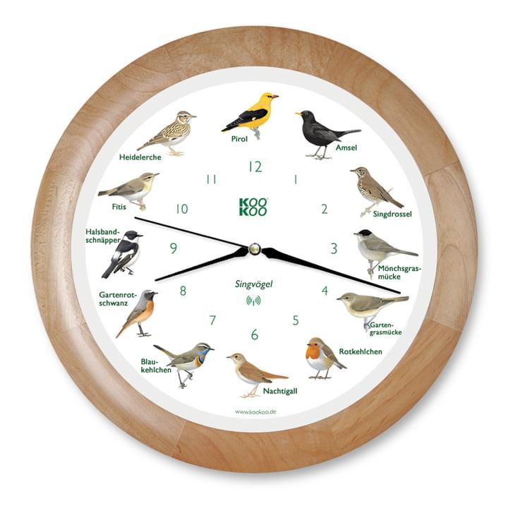 KooKoo - Songbird Wall Clock RC, wood