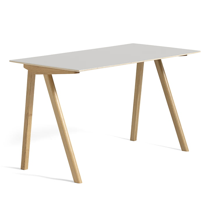 Hay - Copenhague CPH90 Desk 130 x 65 cm, soaped oak with linoleum, cream white