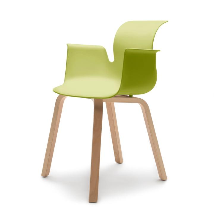 Pro 6 Armchair, four-legged wooden frame