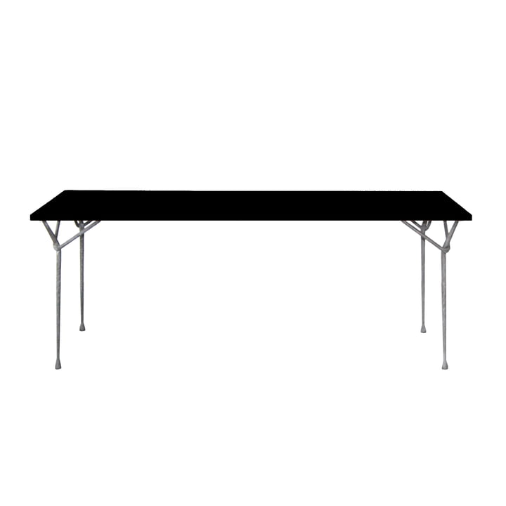 Magis - Officina dining table 200cm, zinc-plated / black