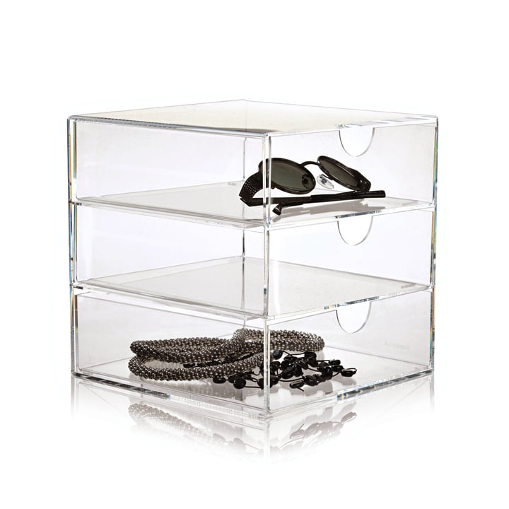 Nomess - Clear 3-Drawer 20