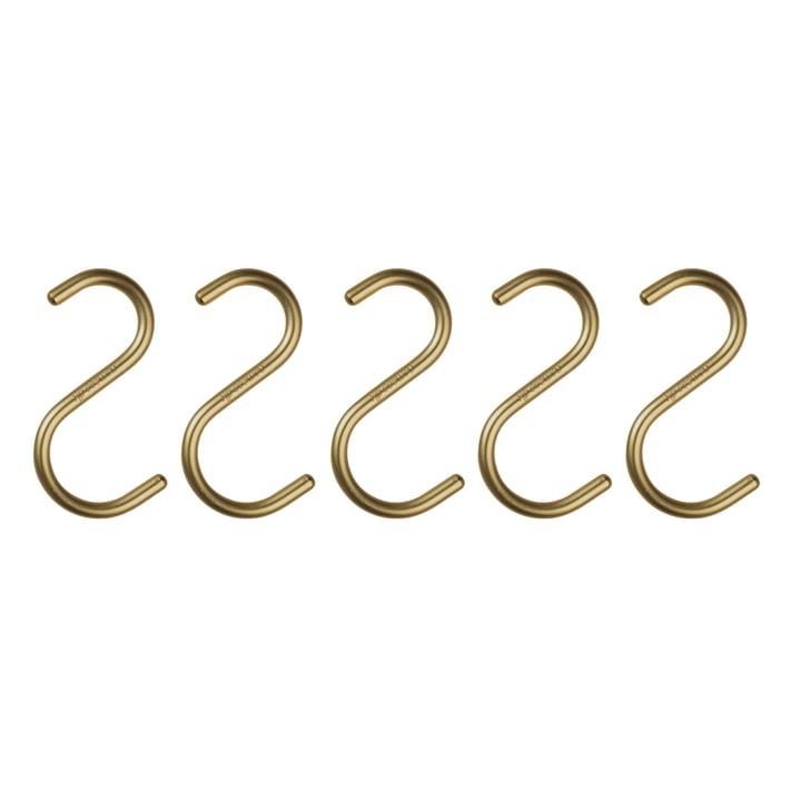 Nomess - S-Hook, matte gold, set of 5