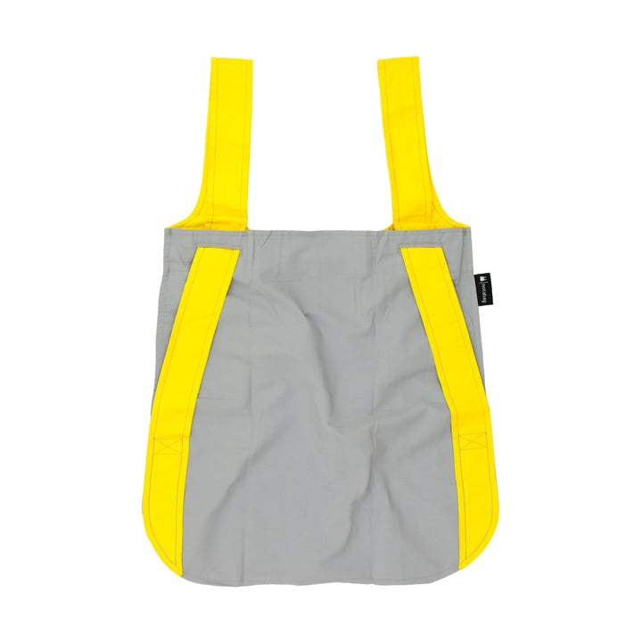 Notabag - bag and rucksack, yellow/grey
