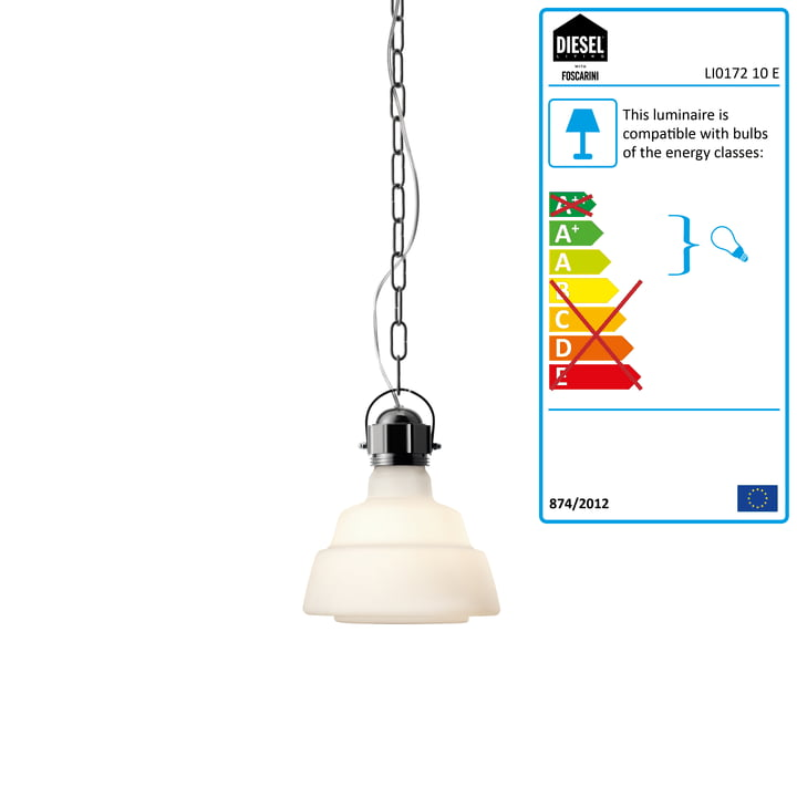 Diesel Living - Glas Pendant Light, piccola, white