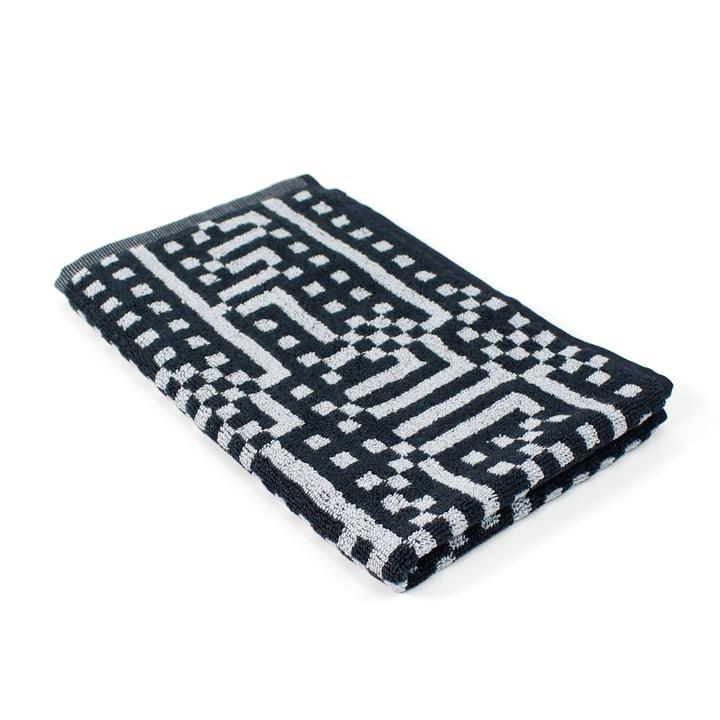 Zuzunaga - Route Black and Light Grey Guest Towel, 33 × 50 cm