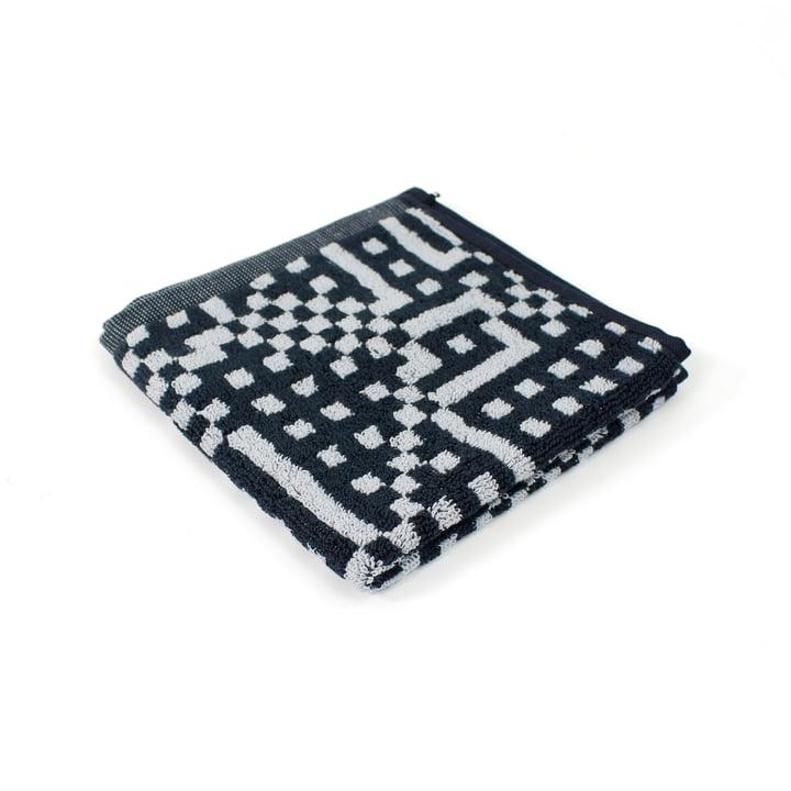 Zuzunaga - Route Black and Light Grey Face Towel, 30 x 30 cm