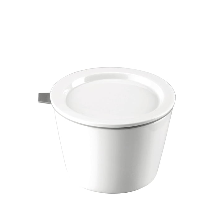 Thomas - Porcelain Food Container, 500 ml, grey silicone ring
