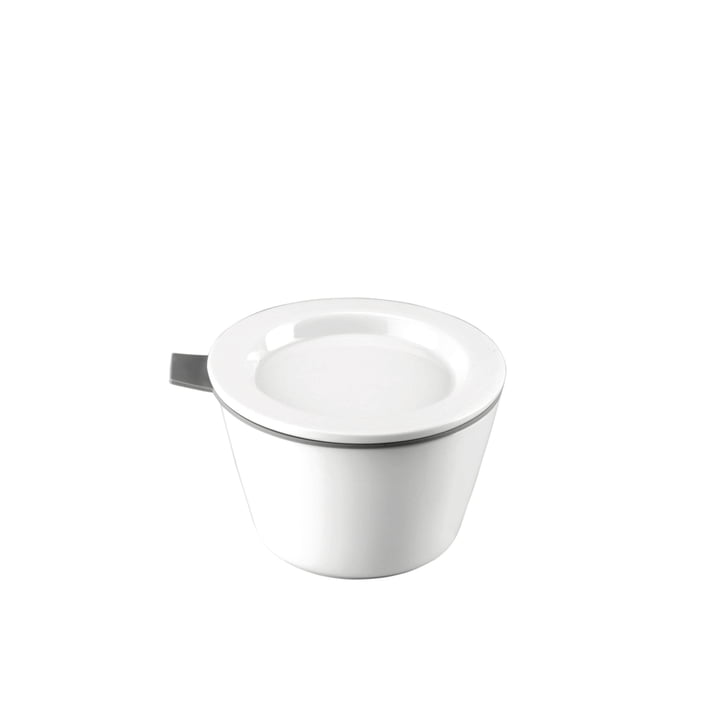 Thomas - Porcelain Food Container, 140 ml, grey silicone ring