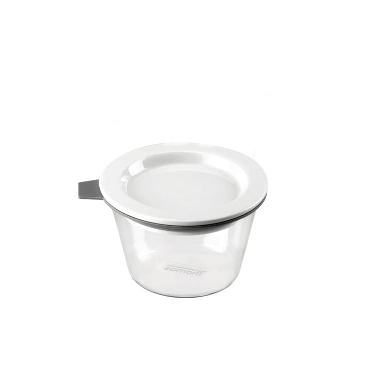 Thomas - Glass Food Container, 140 ml, grey silicone ring