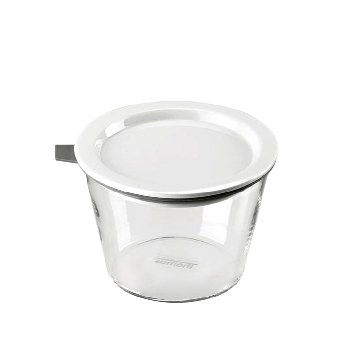 Thomas - Glass Food Container, 500 ml, grey silicone ring