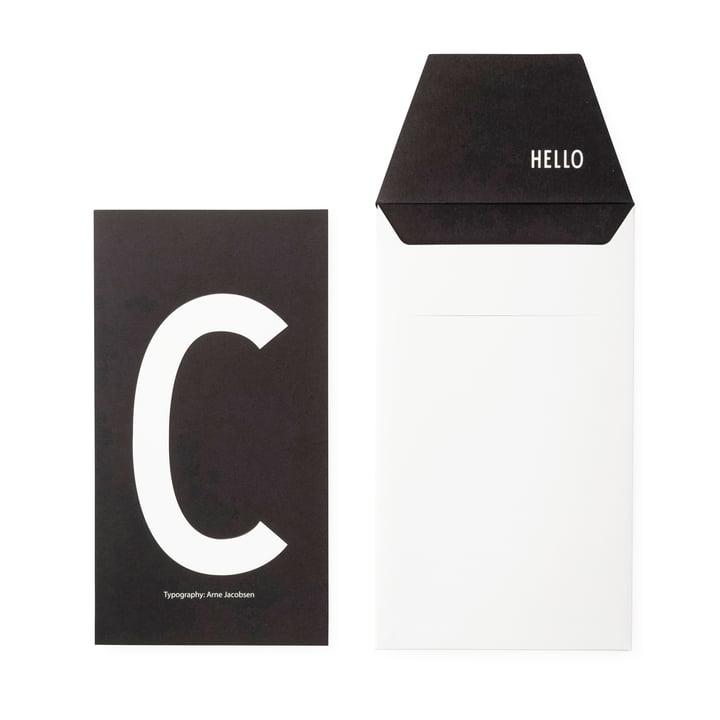 Design Letters - AJ Postcard C