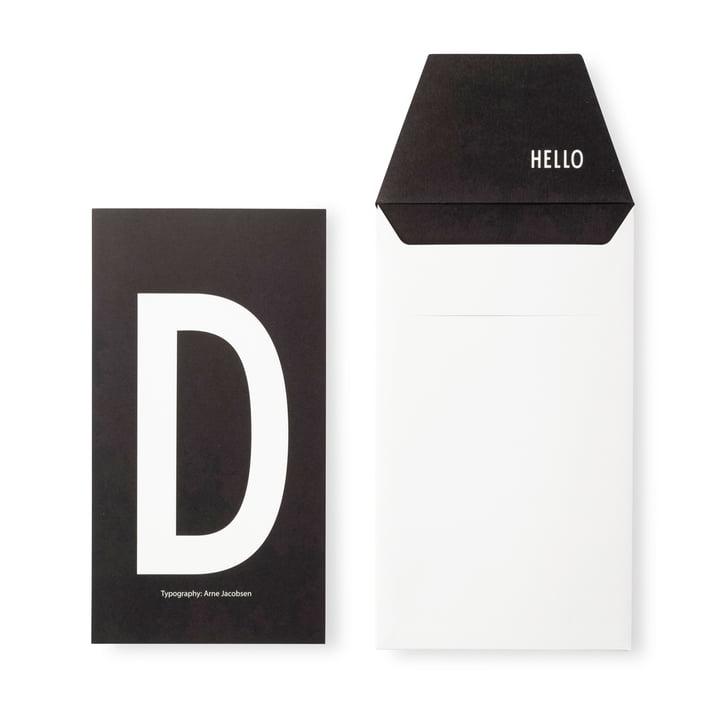 Design Letters - AJ Postcard D