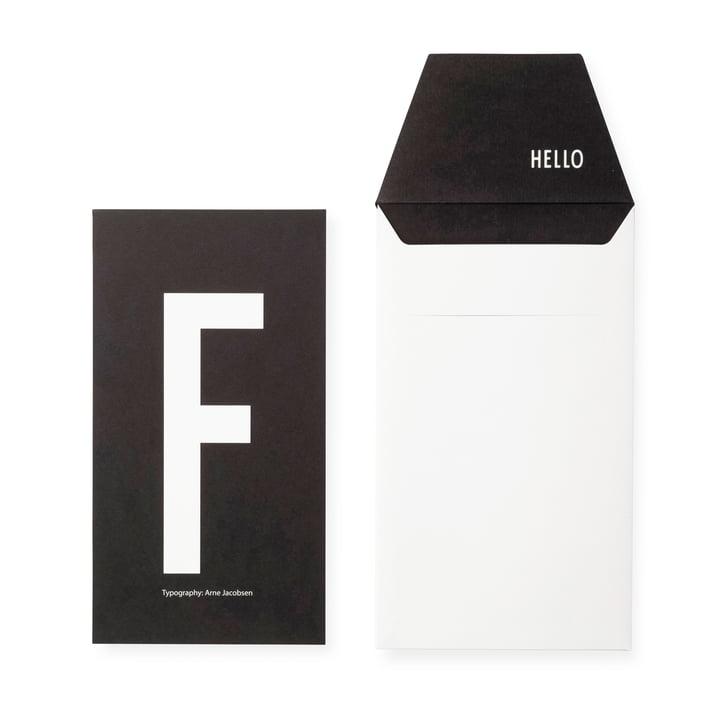 Design Letters - AJ Postcard F