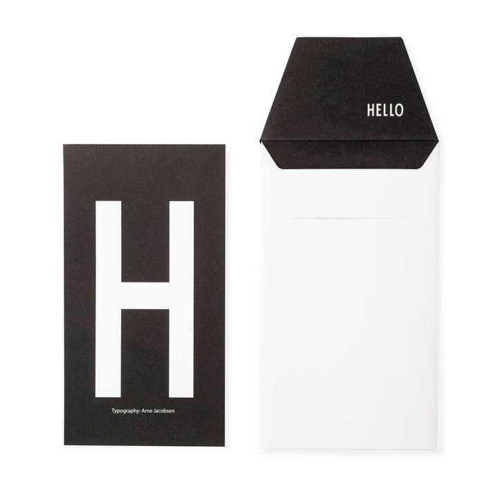 Design Letters - AJ Postcard H