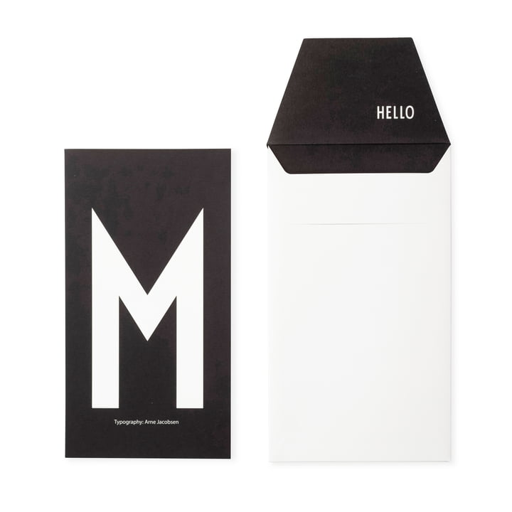 Design Letters - AJ Postcard M