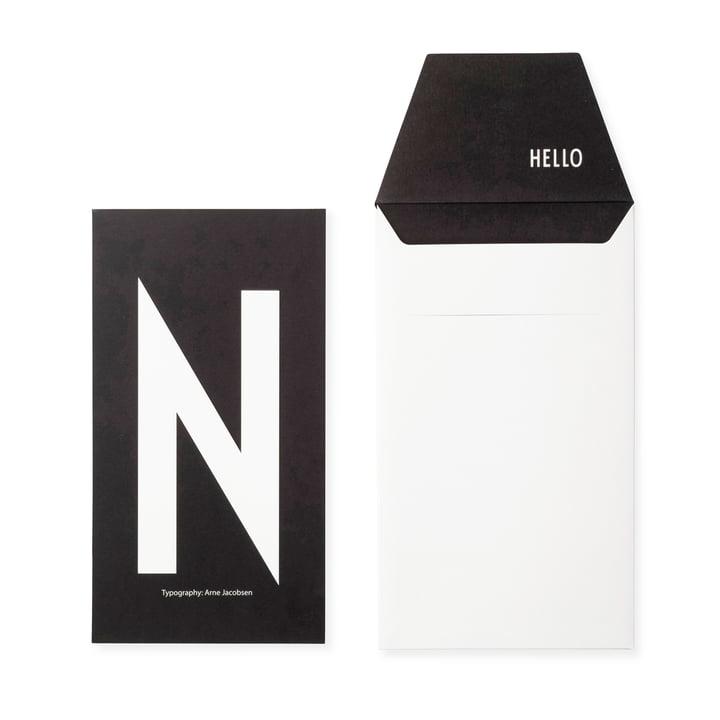 Design Letters - AJ Postcard N