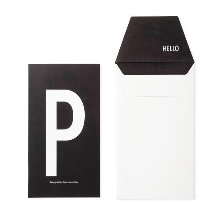 Design Letters - AJ Postcard P