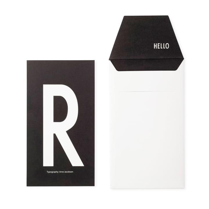 Design Letters - AJ Postcard R