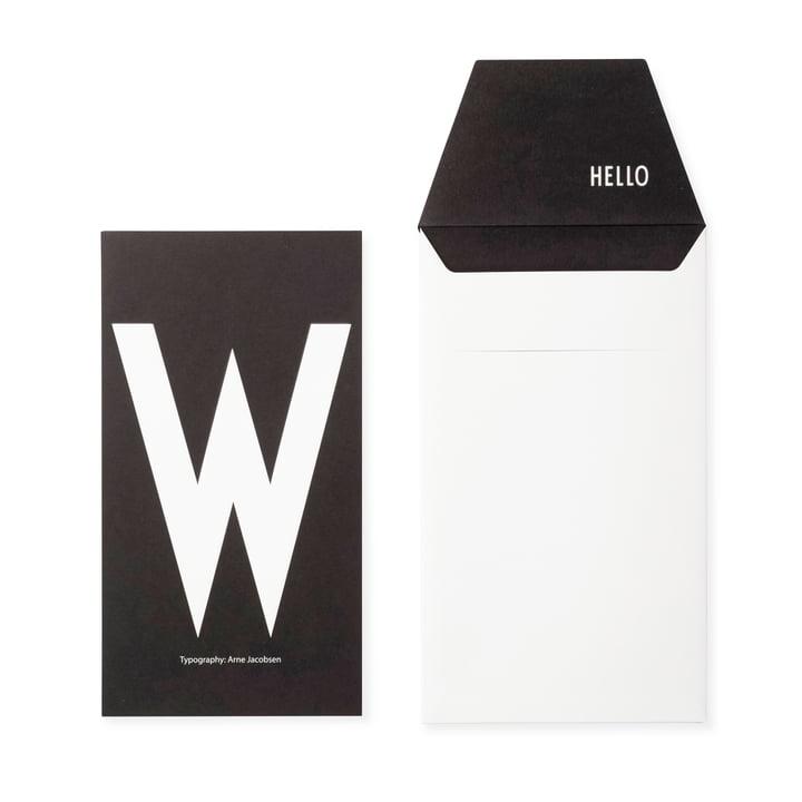 Design Letters - AJ Postcard W